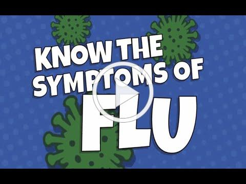 Know the common symptoms of flu