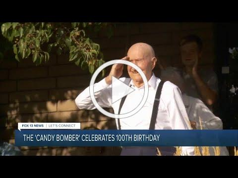 Utah's Gail Halvorsen, aka the 'Berlin Candy Bomber,' celebrates 100th birthday