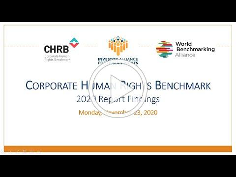 Corporate Human Rights Benchmark Turning the 2020 Report Findings Into Action