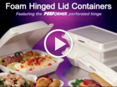 Dart Container's Foam Hinged Lid Containers