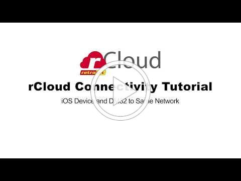 rCloud Connectivity Tutorial DM32 and iOS to same Wi Fi network