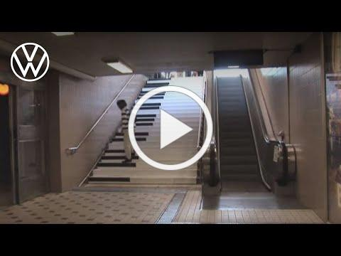 The Fun Theory 1 - Piano Staircase Initiative | Volkswagen