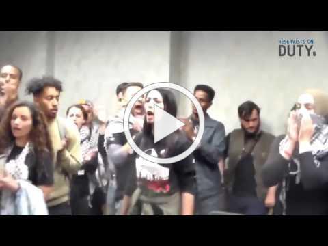 SJP disrupt pro-Israel speakers - Reservists on Duty
