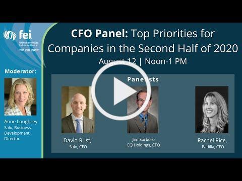 CFO Panel: Top Priorities for Companies in the Second Half of 2020