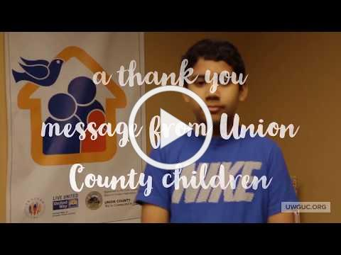 Union County Children Say Thank You