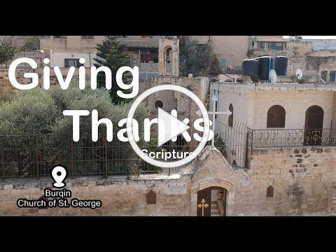 Giving Thanks - Scripture