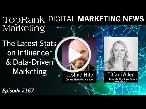 Digital Marketing News 3-15-2019: The Latest Stats on Influencer & Data-Driven Marketing
