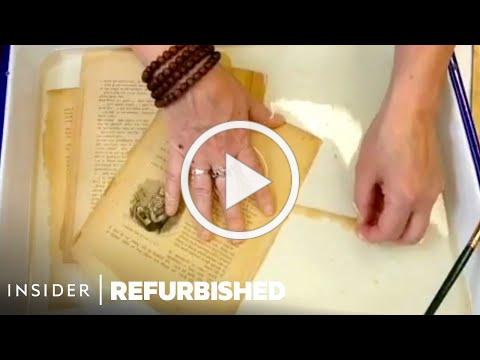How 100-Year-Old Books Are Professionally Restored   Refurbished