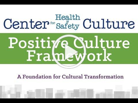 Positive Culture Framework Training