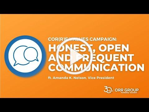 Orr Group's 30th Anniversary Cor(r)e Value: Honest, Open & Frequent Communication with Amanda Nelson