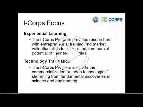 NSF I-Corps Hubs Webinar