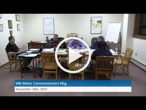 2019-11-18 WB Water Commissioners