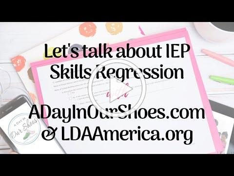 Let's Talk about IEP Skills Regression