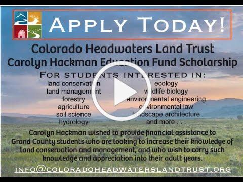 Carolyn Hackman Scholarship 2020-2021