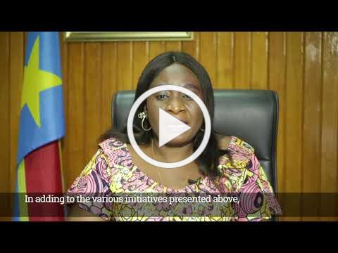 Her Excellency Madame Jeanne Illunga Zaina, Vice Minister of Environment & Sustainable Dev, DRC