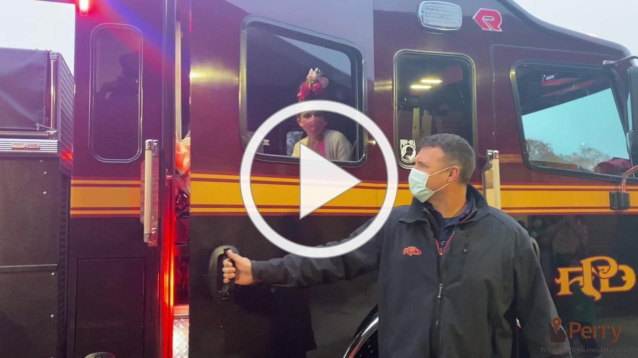 Poster Contest Winner Fire Truck Ride | December 2020