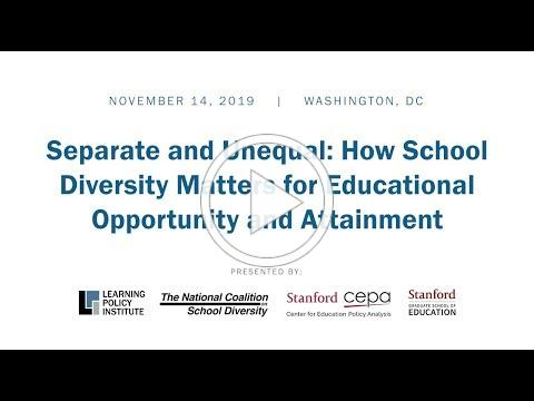 Event: Separate and Unequal: How School Investment and Integration Matter