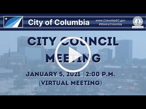 City Council Meeting | January 5, 2021