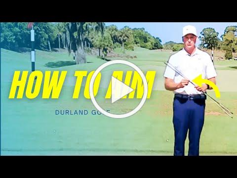 GOLF TIP   How To AIM Your Shot IN GOLF