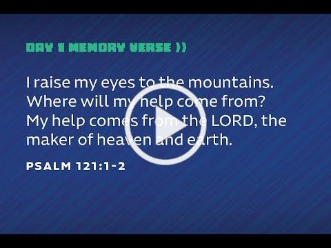 VVBS Day 1 - Memory Verse