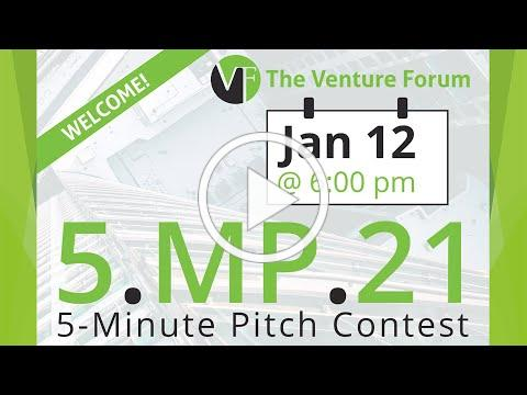 TVF Five-Minute Pitch Contest from January 12, 2021