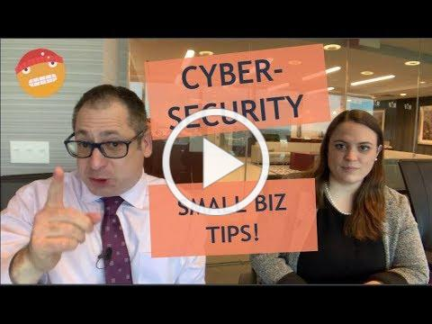 Cybersecurity Tips for small Biz!