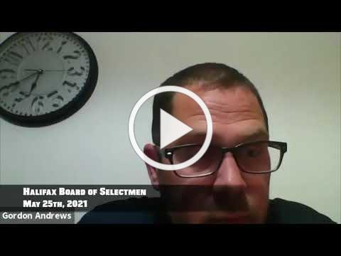 Halifax Board of Selectmen 2021/05/25