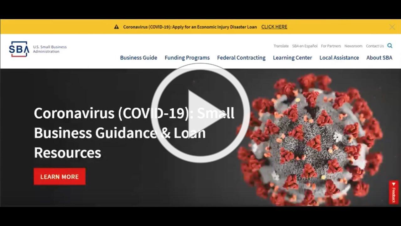 SBA Economic Injury Disaster Loan (EIDL) Application Walk through