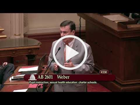 Senator Anderson on AB 2601 (Pupil instruction: sexual health education: charter schools)