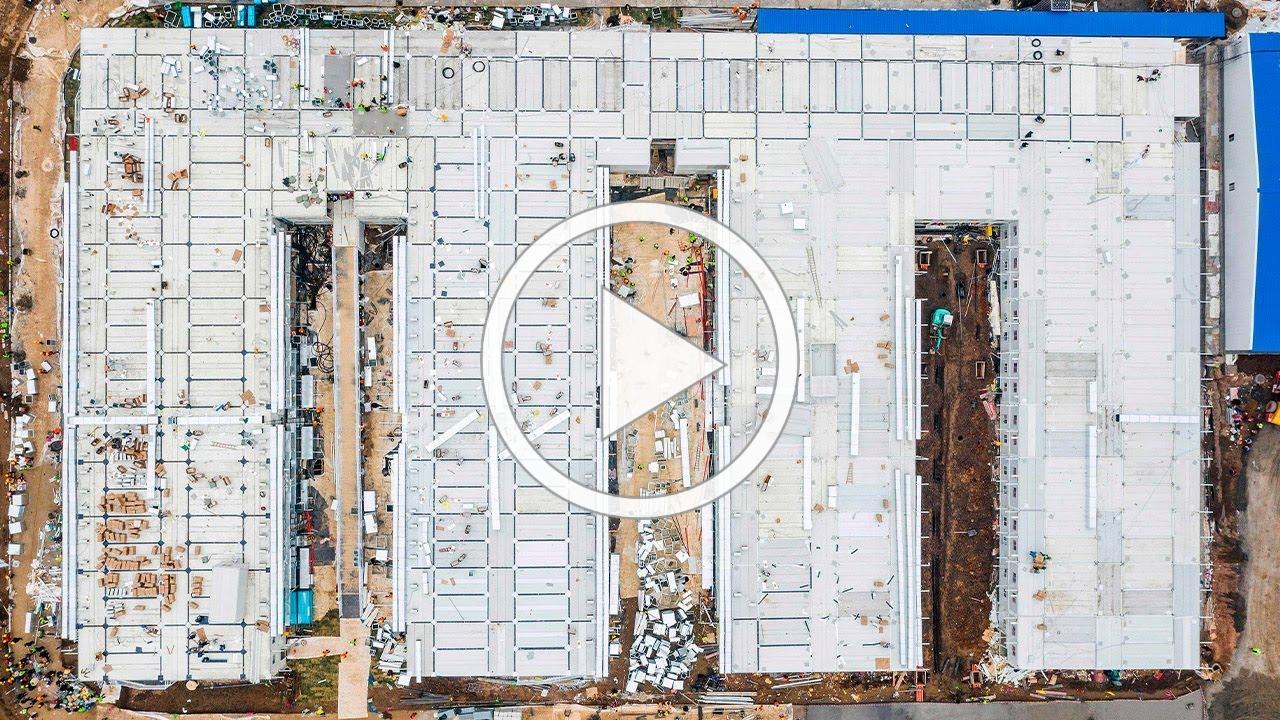 Coronavirus: Time-lapse of Huoshenshan hospital built in 10 days
