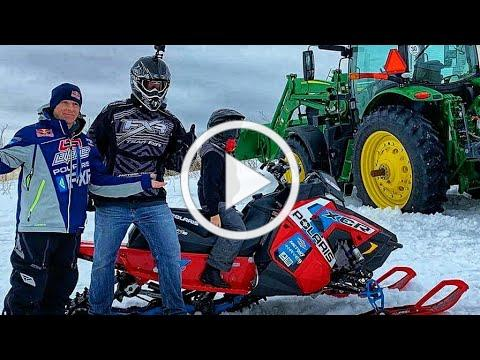 I Jumped A Tractor With My Snowmobile