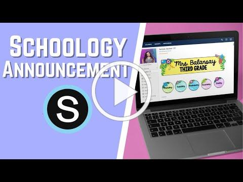How to Add Interactive Announcements on Schoology