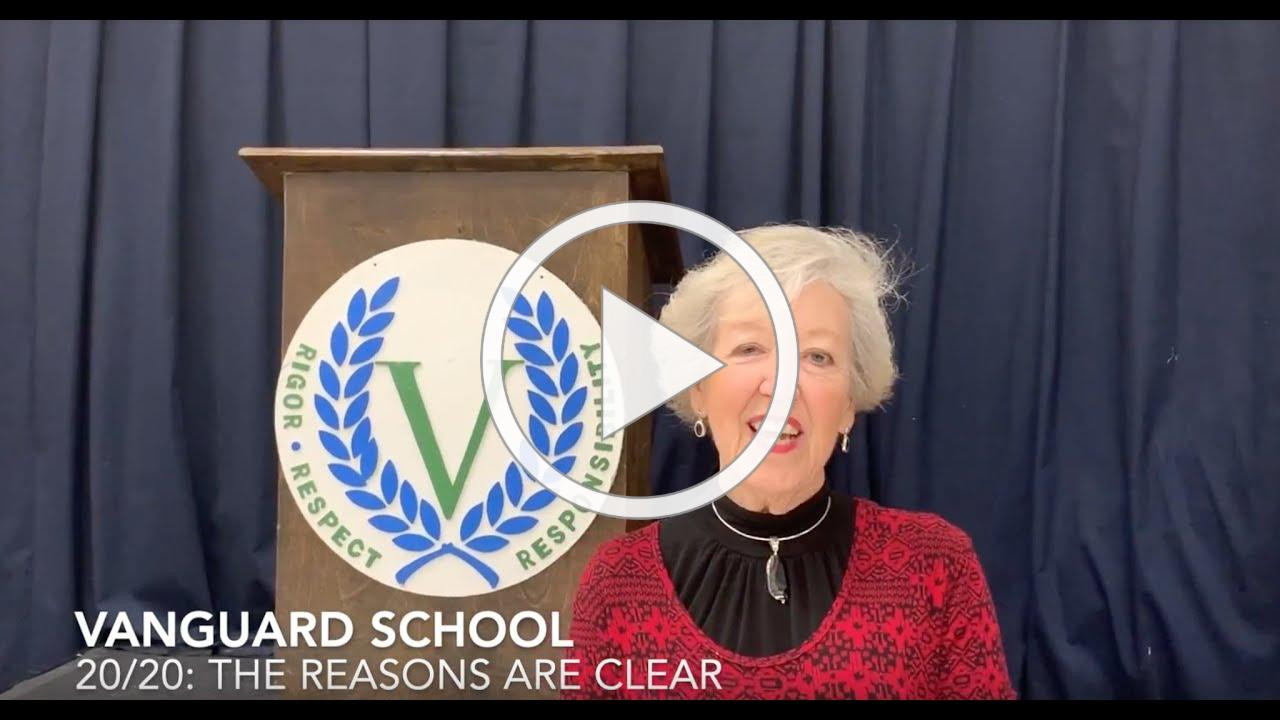 Why Vanguard? In Suzanne Kelly's words - Former Faculty, parent and current board member!