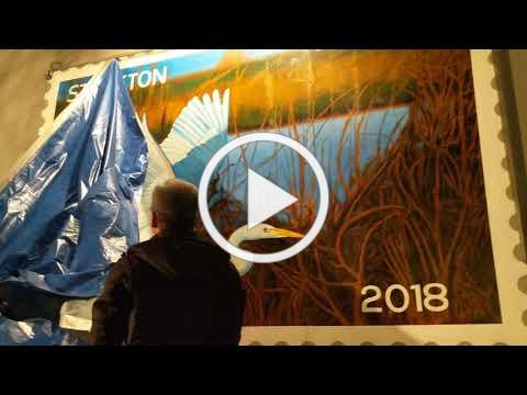 """""""The Egret Takes Flight"""" Unveiling on the Stockton Miracle Mile"""