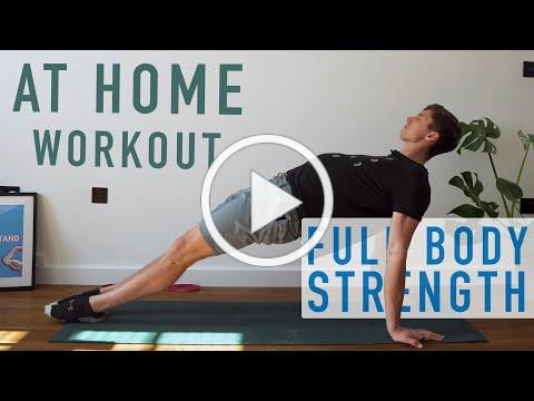 *No Equipment* Bodyweight Strength Workout   Day 1 [At Home Program]