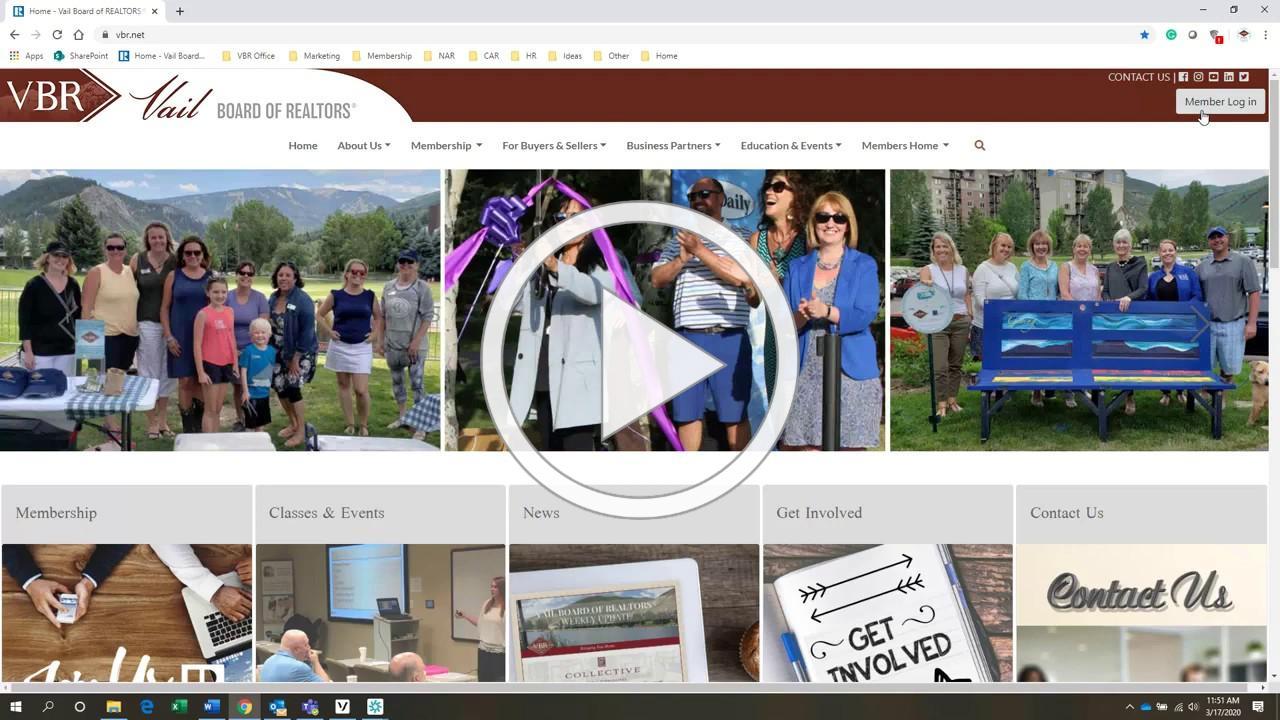 Learn how to use the VBR Member Portal