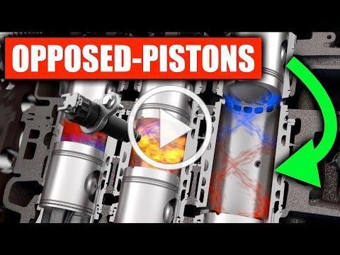 Opposed Piston Diesel Engines Are Crazy Efficient