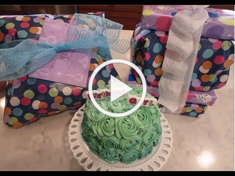 Rosette Birthday Cake