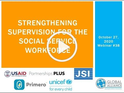 Strengthening Supervision for the Social Service Workforce