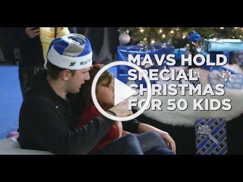 Dallas Mavericks help give 50 at-risk kids a special Christmas