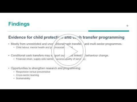 Webinar: Cash Transfer Programming and Child Protection