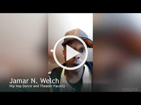 Dancer Jamar Welch - I Am an Artist - East Bay Center for the Performing Arts