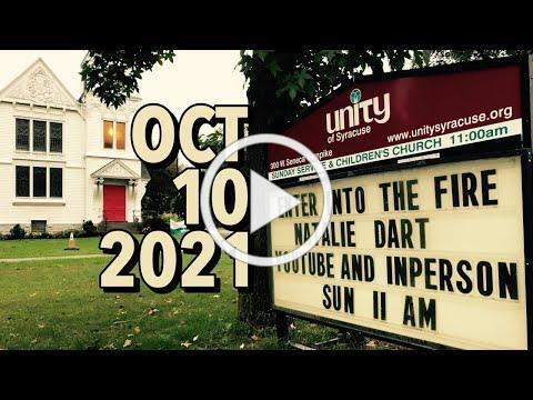 """""""ENTER INTO THE FIRE"""" by Natalie Dart -- Sunday celebration service"""