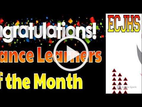 ECJHS Distance Learners of the Month FEB2021
