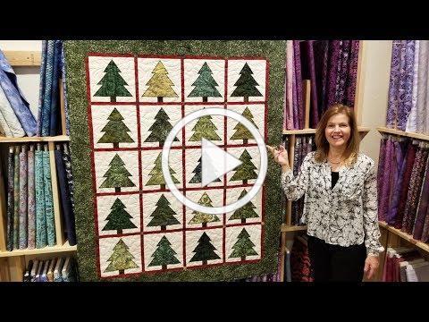 Christmas in July!? Ponderosa Pines Quilt Full tutorial