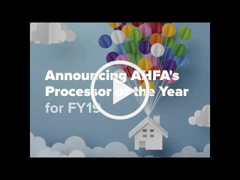 AHFA's Processor of the Year for FY19 is .... Karen Ragsdale of Prosperity Home Mortgage LLC!