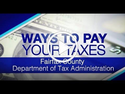 Ways to Pay Your Fairfax County Taxes