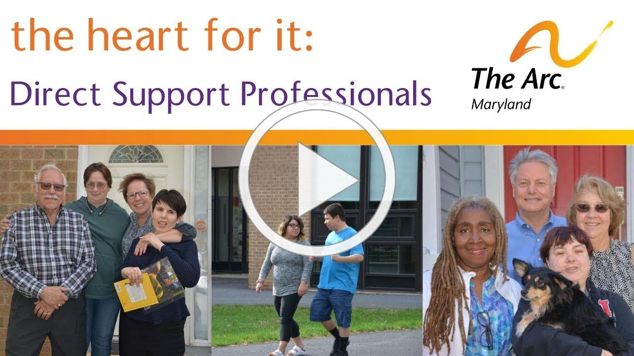 the heart for it - Direct Support Professionals Short