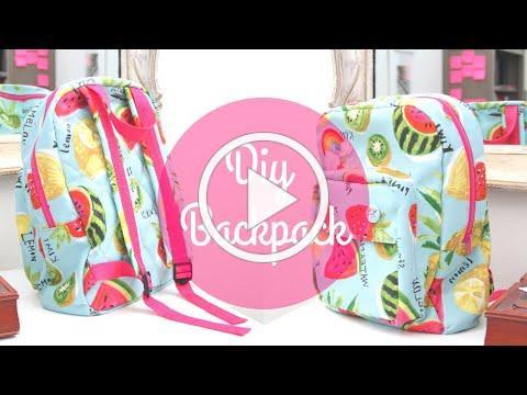 DIY Kid's Backpack | A Back To School SEWING TUTORIAL