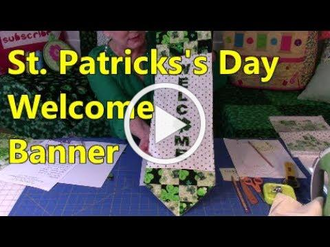 St Patrick's Day Welcome Banner